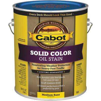Cabot VOC Solid Color Oil Deck Stain, Medium Base, 1 Gal.
