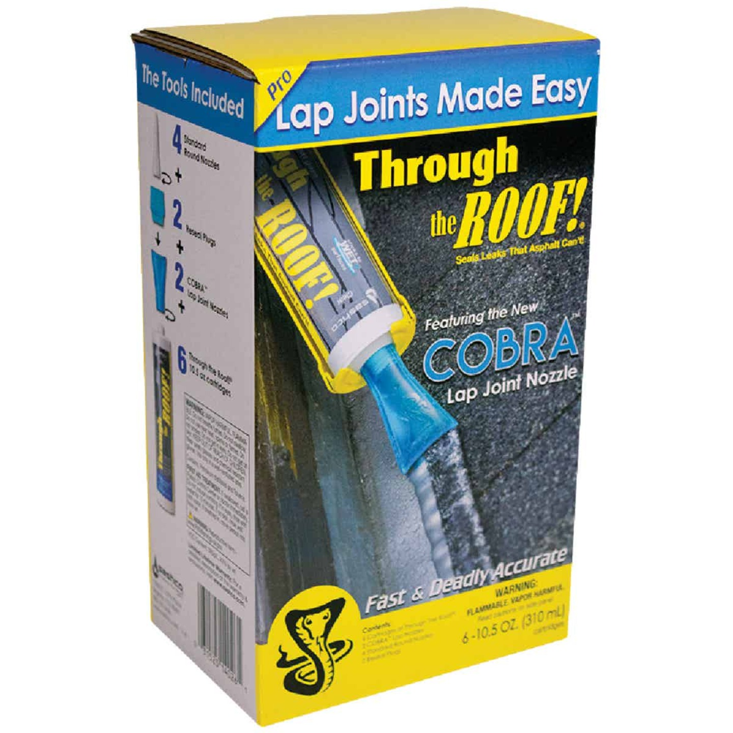 Cobra Lap Joint Nozzle System with Through The Roof! Sealant Image 1