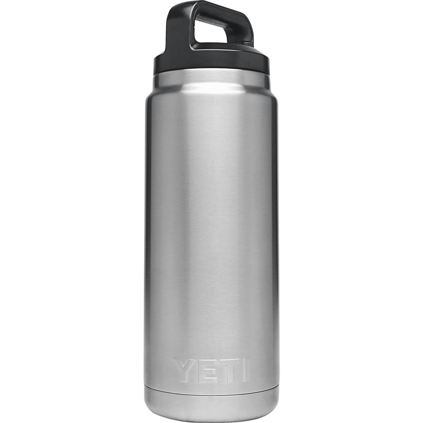 Yeti Rambler 26 Oz. Silver Stainless Steel Insulated Vacuum Bottle Image 1