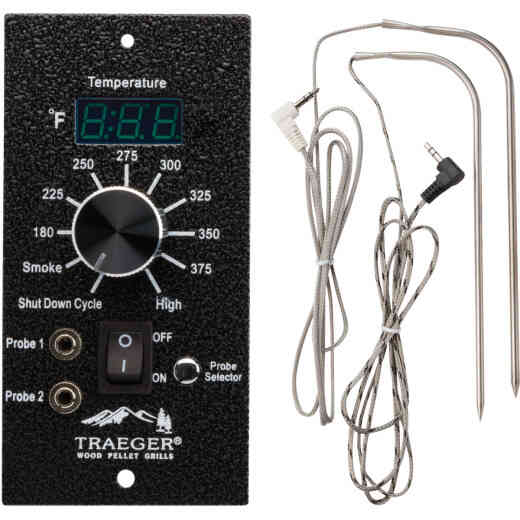 Traeger Digital Pro Black Thermostat Controller with 2 Probes