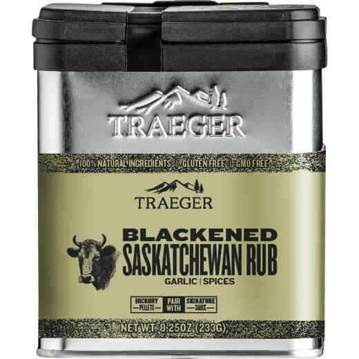 Traeger 8 Oz. Garlic & Signature Spices Flavor Game, Beef, Poultry & Seafood Blackened Saskatchewan Rub