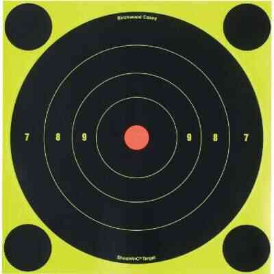 Birchwood Casey Shoot-N-C 8 In. Sighting Adhesive Paper Bulls-Eye Target