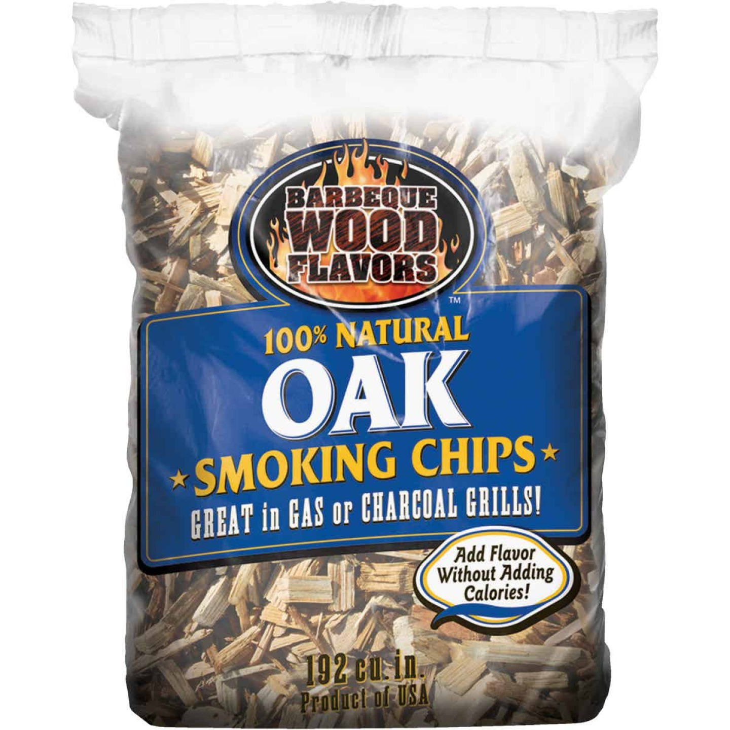 Barbeque Wood Flavors 192 Cu. In. Oak Smoking Chips Image 1