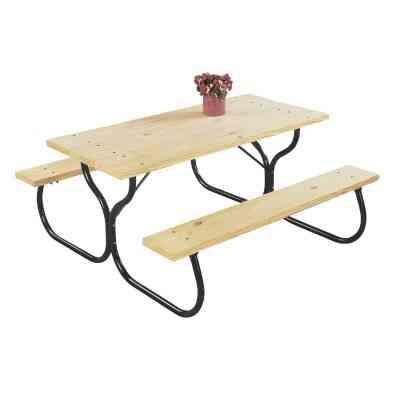 Jack Post Black Steel Picnic Table Frame Kit