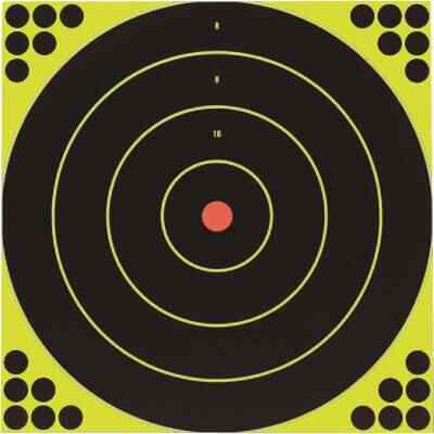 Birchwood Casey Shoot-N-C 12 In. Sighting Adhesive Paper Bulls-Eye Target