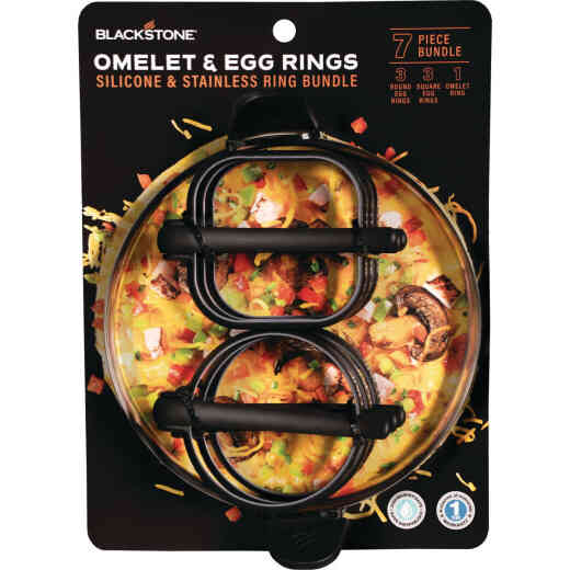 Blackstone Silicone Egg Ring and Omelette Ring 6-Piece Tool Set
