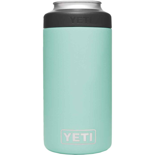 Yeti Rambler Colster Tall 16 Oz. Seafoam Stainless Steel Insulated Drink Holder with Load-And-Lock Gasket