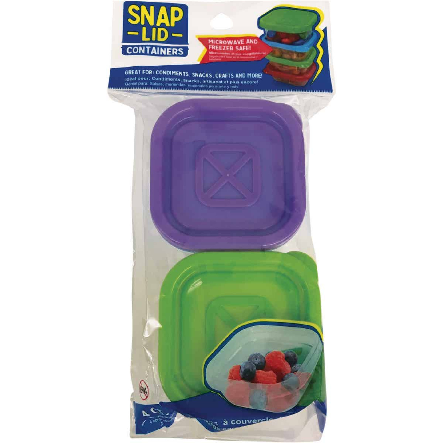 Jacent Clear Square Food Storage Container with Lids (4-Pack) Image 1