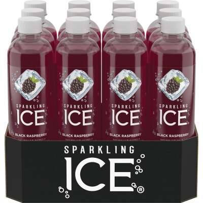 Talking Rain Sparkling Ice 17 Oz. Water, Black Raspberry
